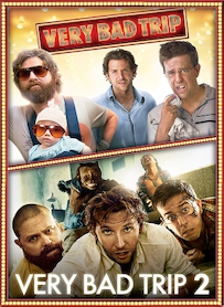 Affiche du film PACK VERY BAD TRIP (VERY BAD TRIP 1 ET 2)