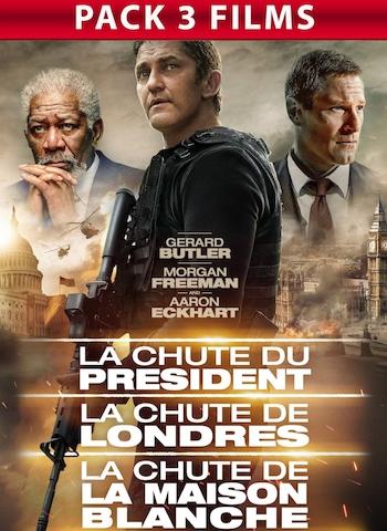 PACK LA CHUTE DE LA MAISON BLANCHE - LA CHUTE DE LONDRES - LA CHUTE DU PRÉSIDENT