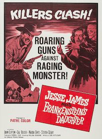 Affiche du film Jesse James contre Frankenstein